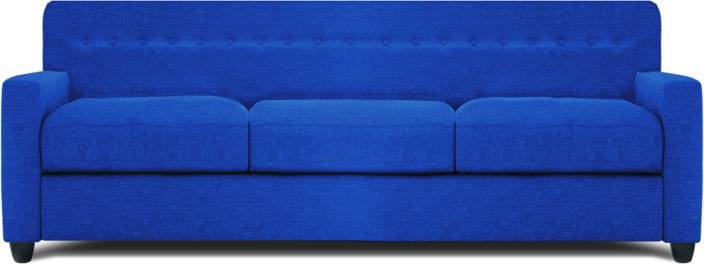 Dolphin Solitaire Fabric 3 + 2 Blue Sofa Set