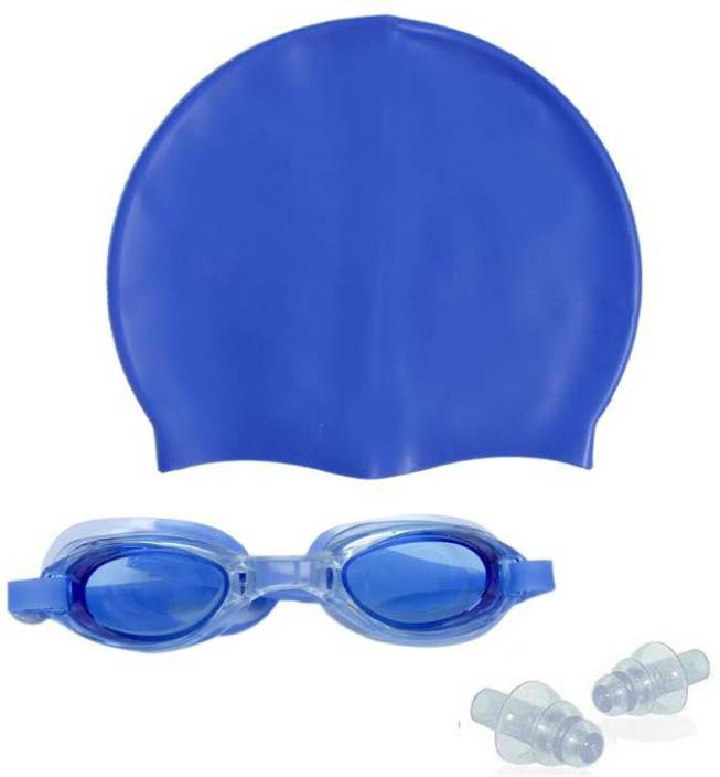 a9c27d2bc6c Sportshour blue swimming cap with swimming goggle Swimming Kit - Buy  Sportshour blue swimming cap with swimming goggle Swimming Kit Online at  Best Prices in ...