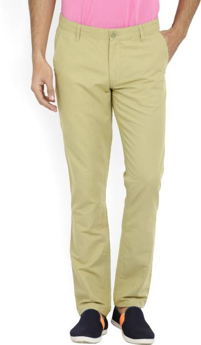 John Players Slim Fit Mens Beige Trousers