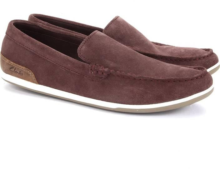 Clarks Medly Sun Burgundy Loafers For Men