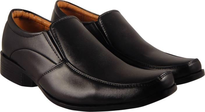 9bd6d3f0f36a83 Action Synergy Men s Formal Shoes Black ME9938 Slip On For Men - Buy ...