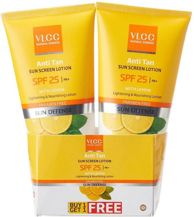 VLCC Anti Tan Sun Screen Lotion (Buy 1 get 1 Free) - SPF 25 PA+  (150 ml)