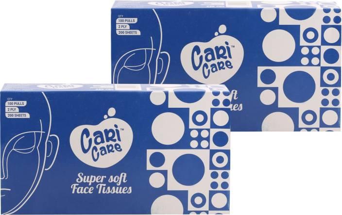 Cari Care Facial Tissues set of 2 (Blue color box) - Price in India ... f1b616a1ed
