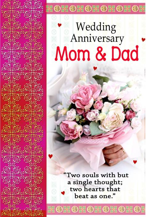 Wedding Anniversary Mom Dad Poster Paper Print Quotes