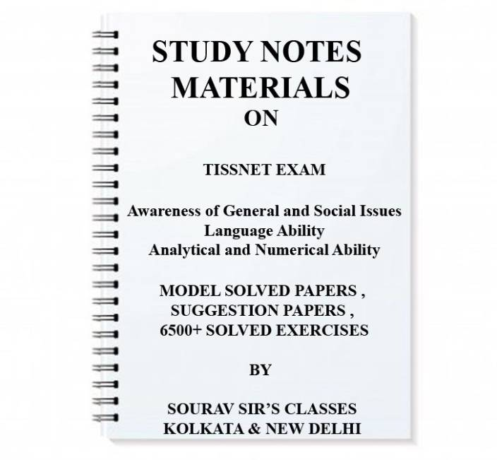 Study Material For Tissnet Entrance Complete With Model Sample