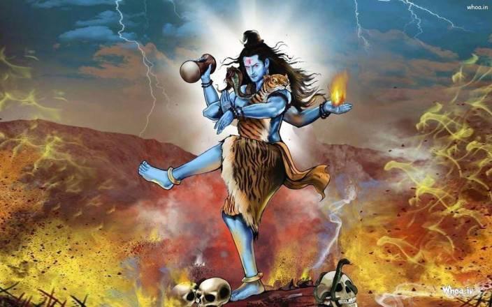 Lord Shiva Tandav Hd Wallpaper On Art Paper Fine Art Print Art
