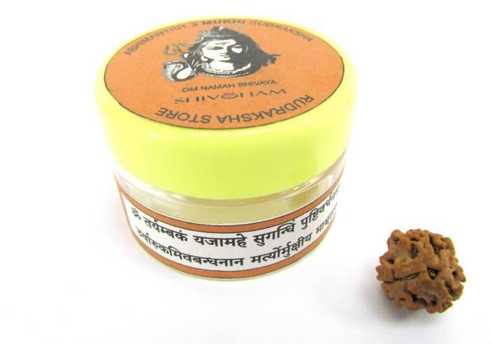 SHIVOHAM Mantra-Siddha 3 Mukhi Rudraksha Wooden Yantra Price
