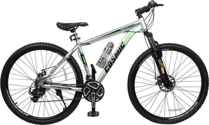 585a982b3ba COSMIC TRIUM 27.5 INCH MTB BICYCLE 21 SPEED SILVER-PREMIUM EDITION 29 T  Mountain/Hardtail Cycle (21 Gear, Silver)