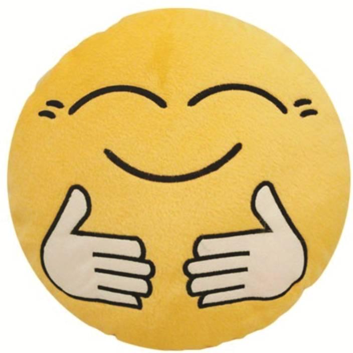 Skylofts Cute Hug Me Tight Smiley Cushion Pillow - 37 cm