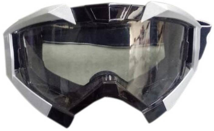 be2ce8118ce Enfield Works A A Automobile Vega Motorbike Motocross ATV   Dirt Bike  Racing Transparent Goggles with Adjustable Strap (Grey) for Royal Enfield  Classic ...