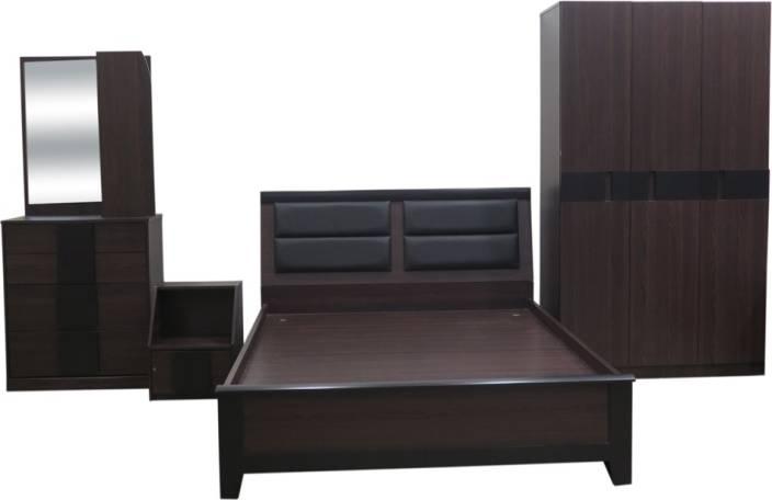 Eros Engineered Wood Bed + Side Table + Wardrobe + Dressing Table ...