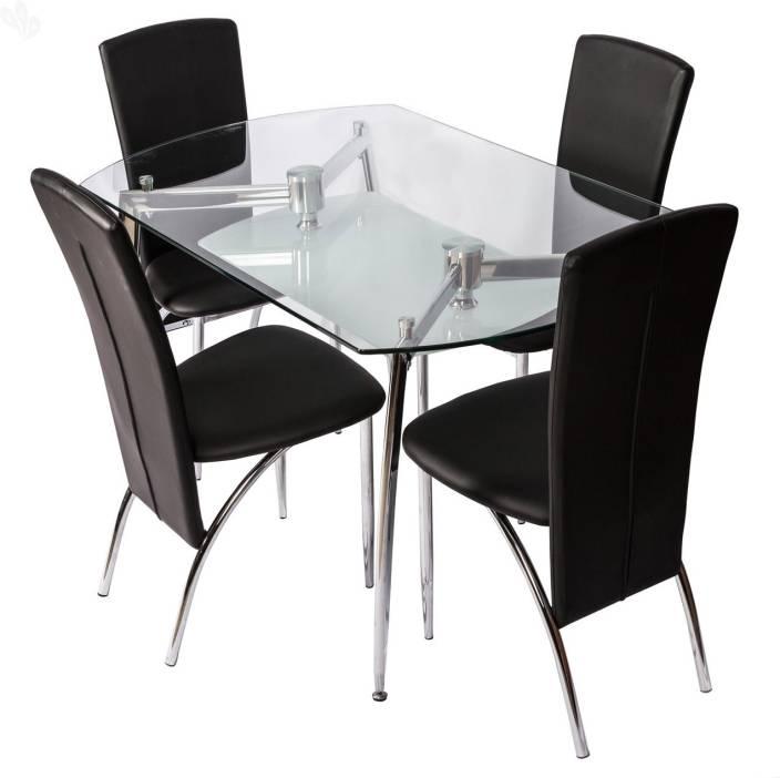 4a234853dba RoyalOak Sonata Glass 4 Seater Dining Set Price in India - Buy ...