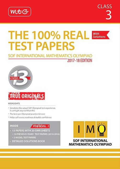 The 100 Real Test Papers Imo Class 3 Buy The 100 Real Test