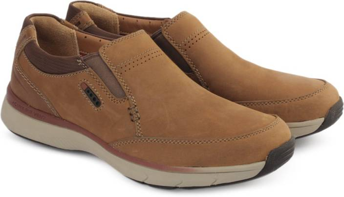 Clarks SEVERON STEP TAN NUBUCK Driving Shoes For Men