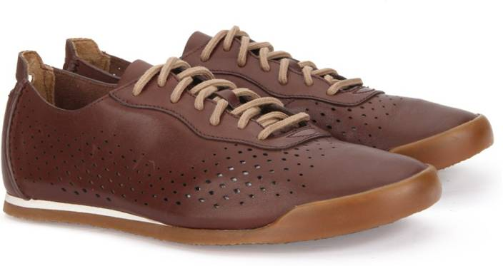 Clarks SIDDAL RUN CHESTNUT LEATHER Sneakers For Men