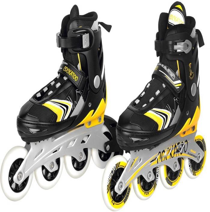 Cockatoo Stylish Big wheels 90mm size large In-line Skates - Size 6-8 UK