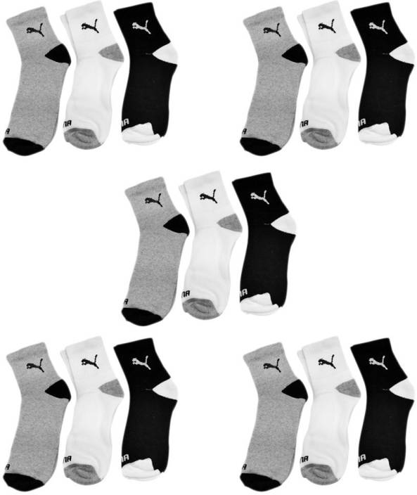 Puma Men & Women Ankle Length Socks  (Pack of 15)