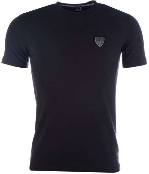 8a30bfb3ee0 Emporio Armani EA7 Printed Men s Round Neck Black T-Shirt - Buy Black Emporio  Armani EA7 Printed Men s Round Neck Black T-Shirt Online at Best Prices in  ...