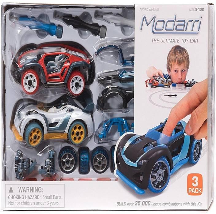 Modarri Modarri 3 Pack Track Cars Set - Build your Car Kit Toy Set - Ultimate Toy Car