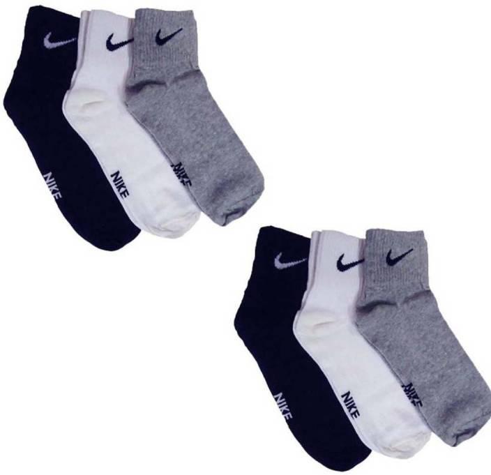 Nike Men & Women Solid Ankle Length Socks