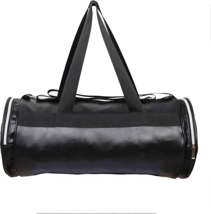 6f887f27fe gag wears Faux Leather Gym Bag (Black
