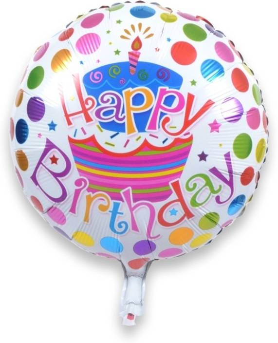 Shop Online Printed Foil Happy Birthday Balloon Multicolor Pack Of 1