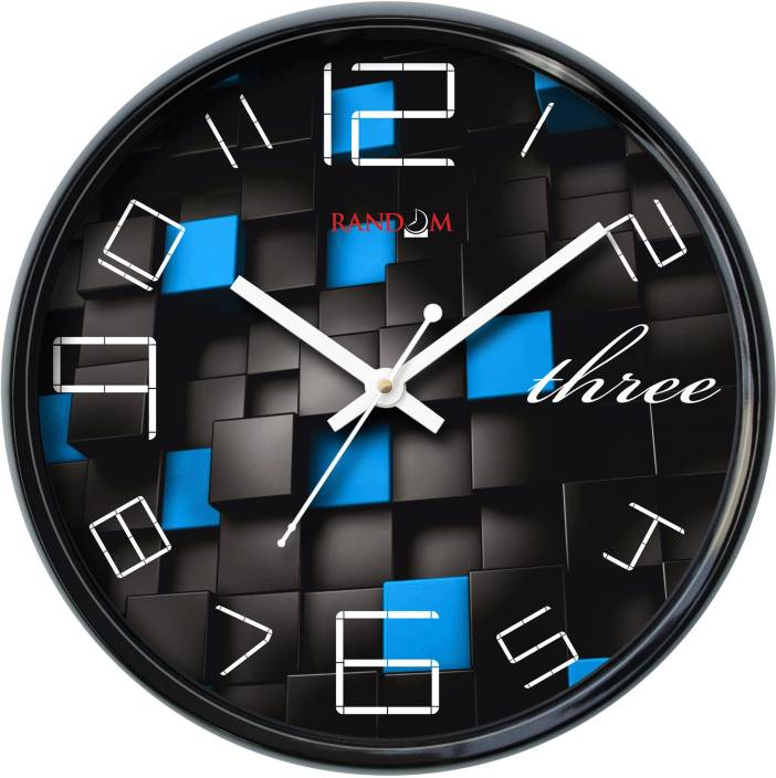 Random Analog 28 cm Dia Wall Clock