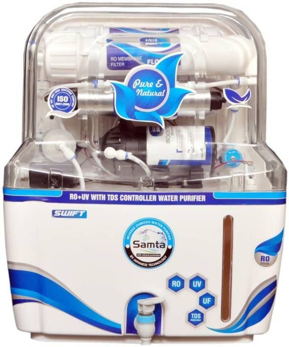 dfbe4c83d3b SAMTA 15 Litre Swift 14 Stage RO+UV+TDS+MINERAL+UF Water Purifier Tap Mount Water  Filter Price in India - Buy SAMTA 15 Litre Swift 14 Stage ...
