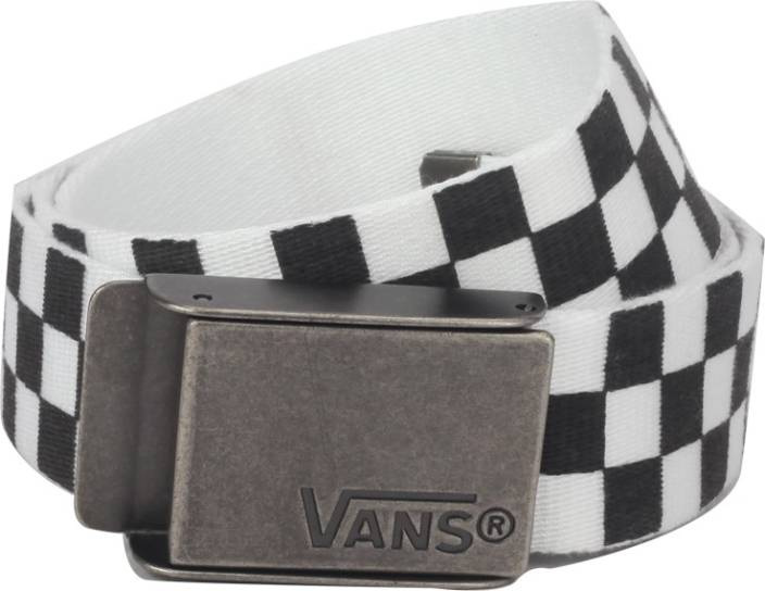 8b8aaf87c62b85 Vans Men Casual Black Fabric Reversible Belt BLACK-WHITE - Price in India
