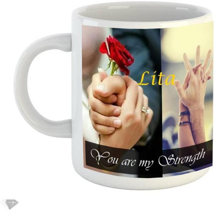 Reindeer You are my strength Lita 350ml white ceramic mug Ceramic Mug