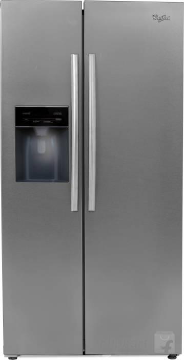 whirlpool 568 l frost free side by side refrigerator (steel, sbs 600)