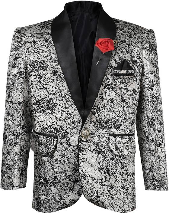 d95389662 AJ Dezines Printed Single Breasted Party, Wedding Boys Blazer