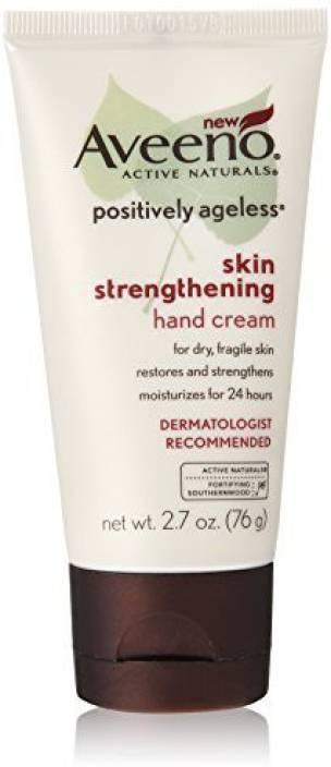 Aveeno Positively Ageless Skin Strengthening Hand Cream, (Pack of 2)
