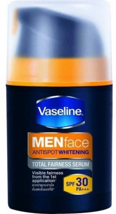Vaseline Men Antispot Whitening Total Fairness Serum Spf 30 Pa+++ Visible Fairness The 1st Application (50 g)