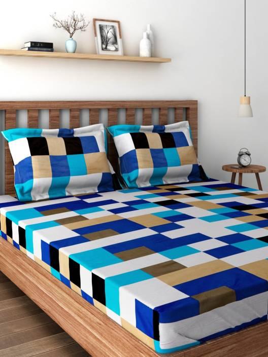 Cortina Satin Floral Double Bedsheet