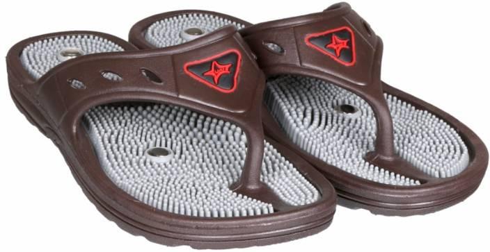 856ed168deb Unistar Acupressure GH-01 Brn 4 Slippers - Buy Brown001 Color Unistar  Acupressure GH-01 Brn 4 Slippers Online at Best Price - Shop Online for  Footwears in ...