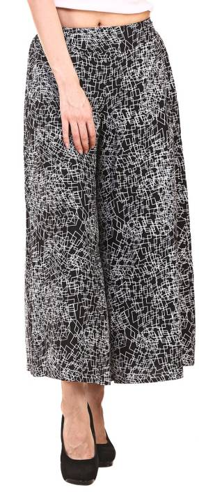 Hive91 Regular Fit Women Black, White Trousers