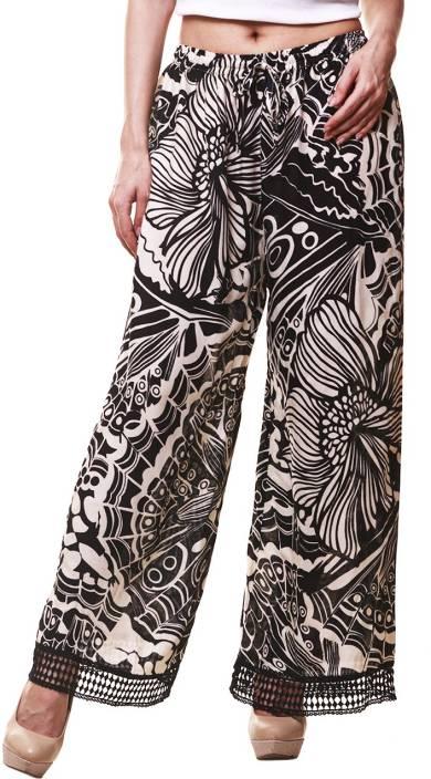 Hive91 Regular Fit Women Black, Beige Trousers
