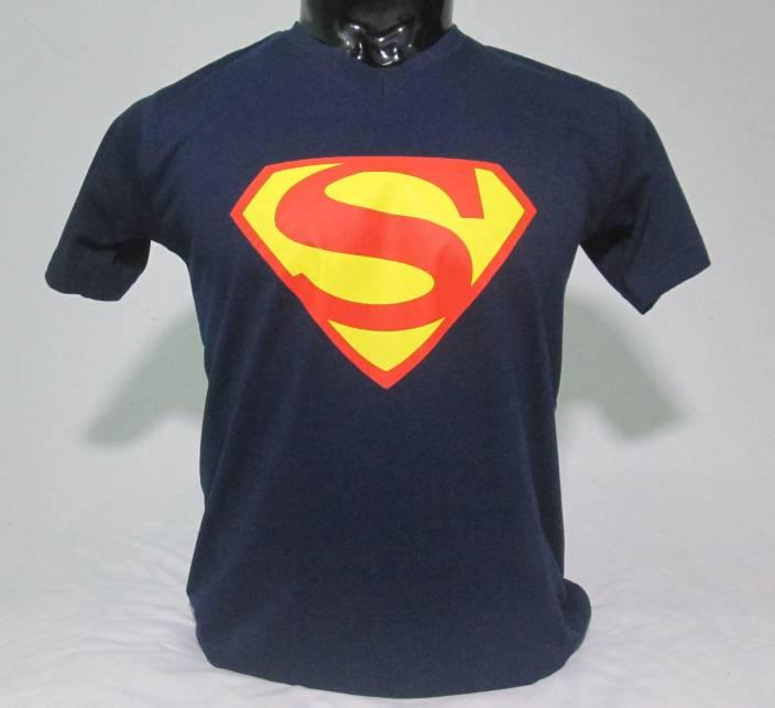 blueb Graphic Print Men & Women V-neck Dark Blue T-Shirt