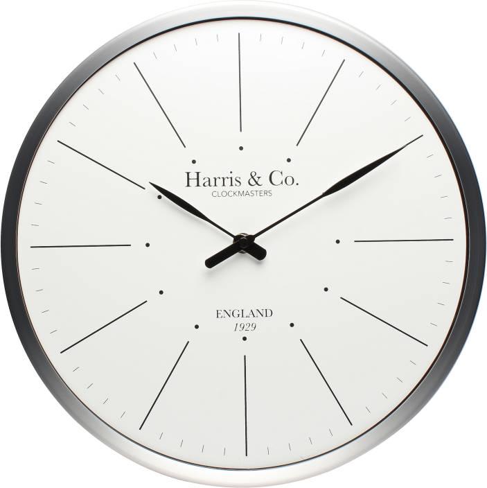 Harris & Co. Clockmasters Analog 33 cm Dia Wall Clock