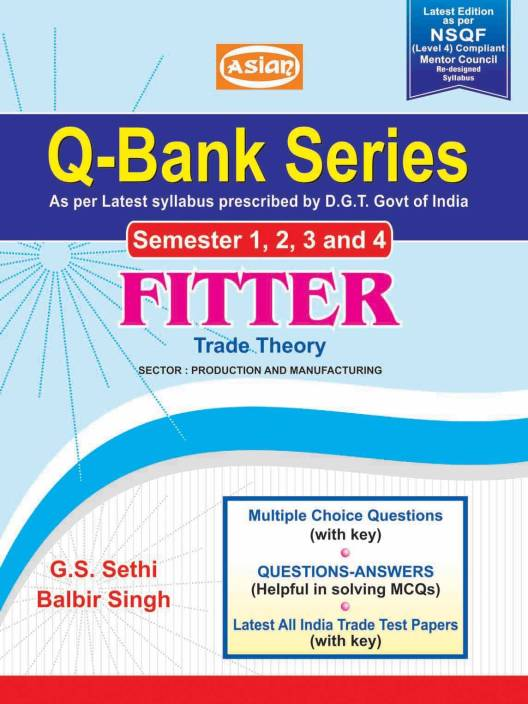 Q-Bank Series Fitter Sem 1-4 - ENGLISH ITI - Asian Publishers