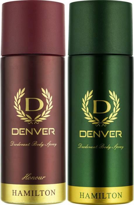 Denver Hamilton and Honour Deo Combo (Pack of 2) Deodorant Spray  -  For Men