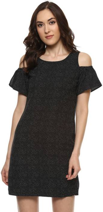 Honey By Pantaloons Women Shift Black Dress