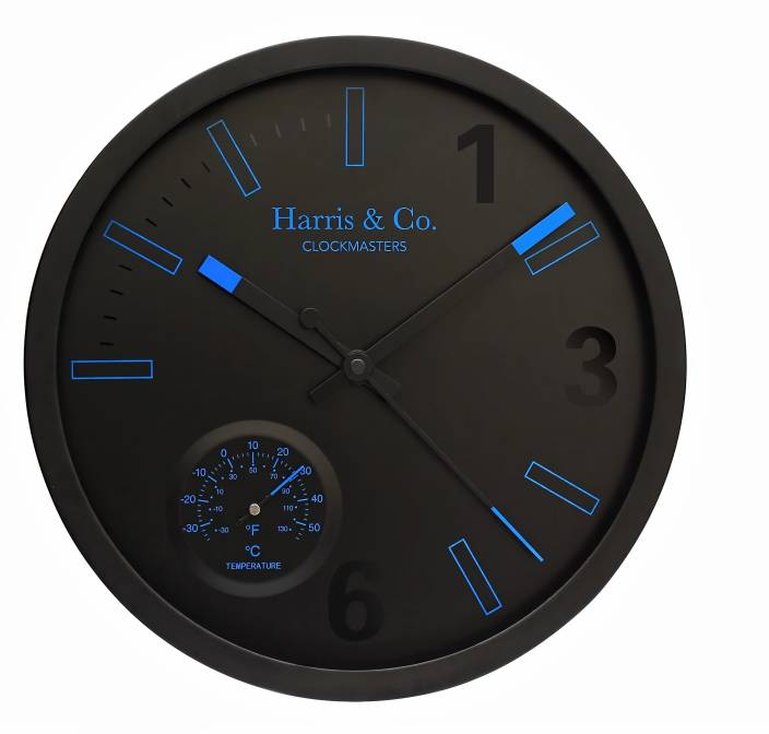 Harris & Co. Clockmasters Analog 30 cm Dia Wall Clock