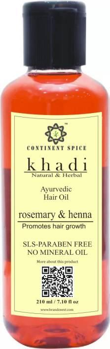 Khadi Natural Herbal Ayurvedic Hair Growth Oil Rosemary Henna