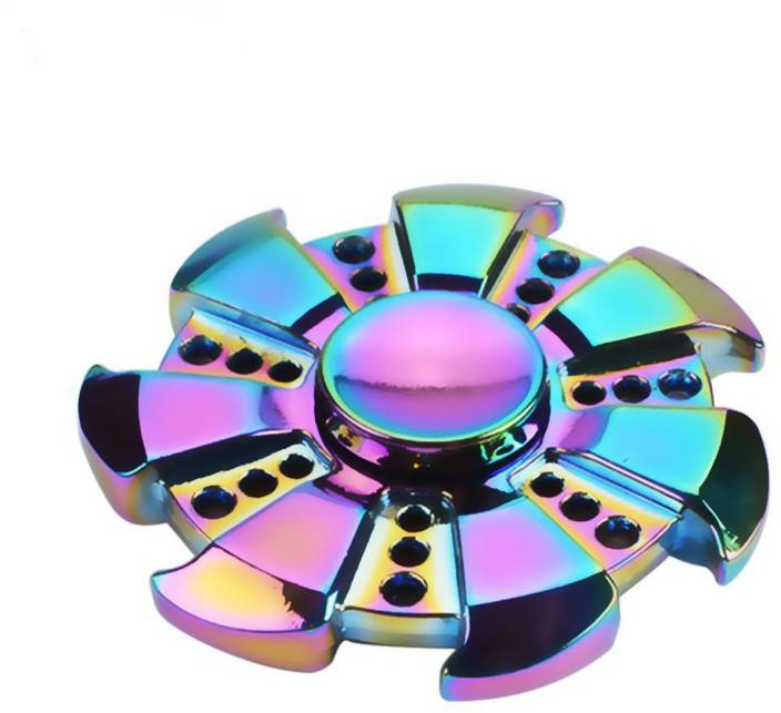 Excite Shoppers High-Speed Rainbow Wheel Metal Fidget Spinner (Premium)