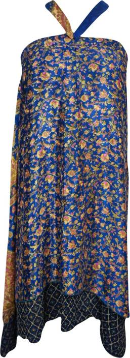 Indiatrendzs Floral Print Women Wrap Around Multicolor Skirt