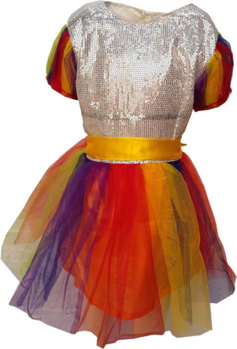 cdecd8613 Kaku Fancy Dresses Rainbow Girl fancy dress for kids