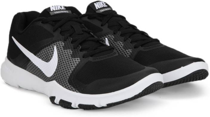 b1bb98cb135f Nike FLEX CONTROL Training Shoes For Men - Buy BLACK WHITE-DARK GREY ...
