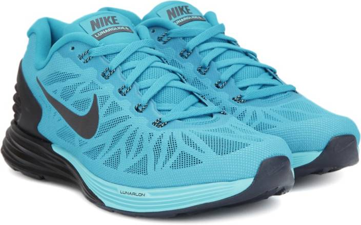 detailed look 7367e 08bc7 Nike LUNARGLIDE 6 Running Shoes For Men (Blue, Black)
